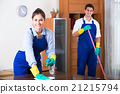 Professional cleaners at the work. 21215794