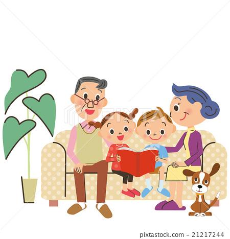 อ่านหนังสือ,ปู่ ตา,ย่า ยาย 21217244