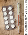 Medicaments with thermometer 21217586