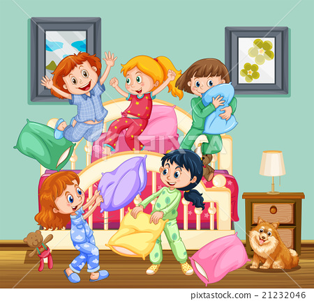 Children at the slumber party 21232046