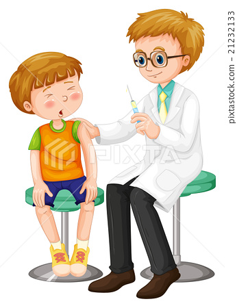 Doctor giving shot to the boy 21232133