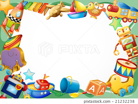 Frame design with wooden toys 21232238