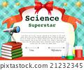 certificate, template, science 21232345