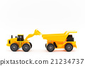 dump truck, shovel loader, miniature 21234737