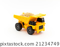 dump truck, miniature, luggage 21234749