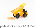 dump truck, miniature, luggage 21234752