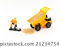 miniature, dump truck, blue collar worker 21234754