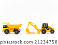 Shovel car and dump truck: excavator & dump truck 21234758