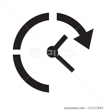 time clock icon illustration sign design stock illustration