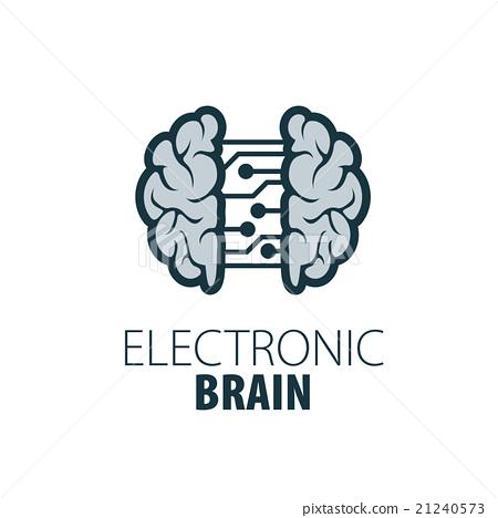 vector brain logo - stock illustration [21240573] - pixta