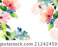 Greeting Card with Blooming Flowers 21242450