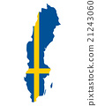 Map and flag of Sweden 21243060