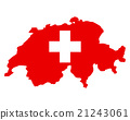 Map and flag of Switzerland 21243061