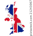 Map and flag of United Kingdom 21243067