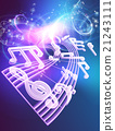 Music Notes Musical Background 21243111