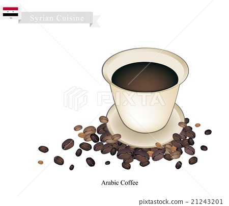 Traditional Arabic Coffee, Popular Dink in Syria 21243201