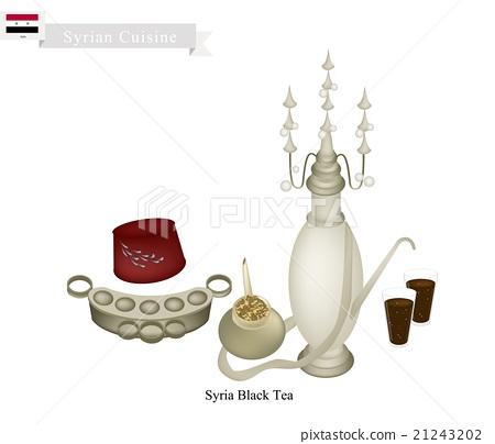 Traditional Black Hot Tea, Popular Dink in Syria 21243202