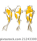 Vector image of an carp koi on white background 21243300