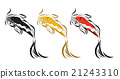 Vector image of an carp koi on white background 21243310
