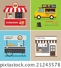 street food shop flat design 21243578