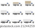set icons trucks semi trailer vector illustration 21244259