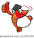 Shrimp mascot the left hand is holding 21244299