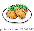 croquette, illustration, foods 21246307