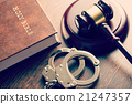 judge gavel and handcuffs 21247357