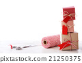 Handmade small boxes with scissors and spool 21250375