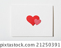Card with hand crafted hearts 21250391