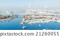 Aerial view of Port in Osaka Japan 21260055