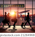 Silhouette people in the airport 21264968
