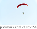 Paratrooper flying in the sky 21265156