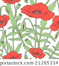 Elegant floral seamless pattern with poppy flowers 21265334
