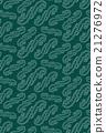 Green Geometric Ornament Pattern. Korean Pattern 21276972