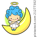 Angel Character is sitting on the crescent moon. 21277302