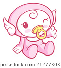 Cute Angel Character is Moving your hands. 21277303
