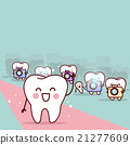 cartoon tooth with paparazzi 21277609