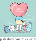 cute cartoon tooth best friends 21277619