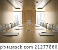 Interiopr of modern boardrooml 3D rendering 21277860