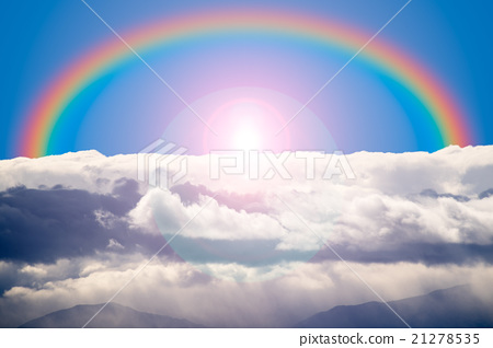 rainbow, cloud, clouds 21278535