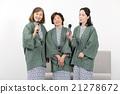 시니어 여자 회 유카타 차림 21278672
