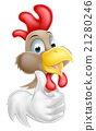 Cartoon Rooster Mascot 21280246