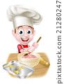 Little Cartoon Boy Baking 21280247