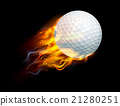 Golf Ball on Fire 21280251