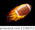 American Football Ball on Fire 21280252