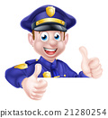 Policeman Double Thumbs Up 21280254