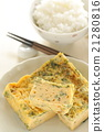 rolled omelet, breakfast, side dish 21280816