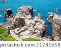 Landscape of Tojinbo Cliff, Mikuni cho, Sakai 21281658