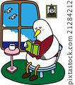 海鸥 鸥 打盹 21284212